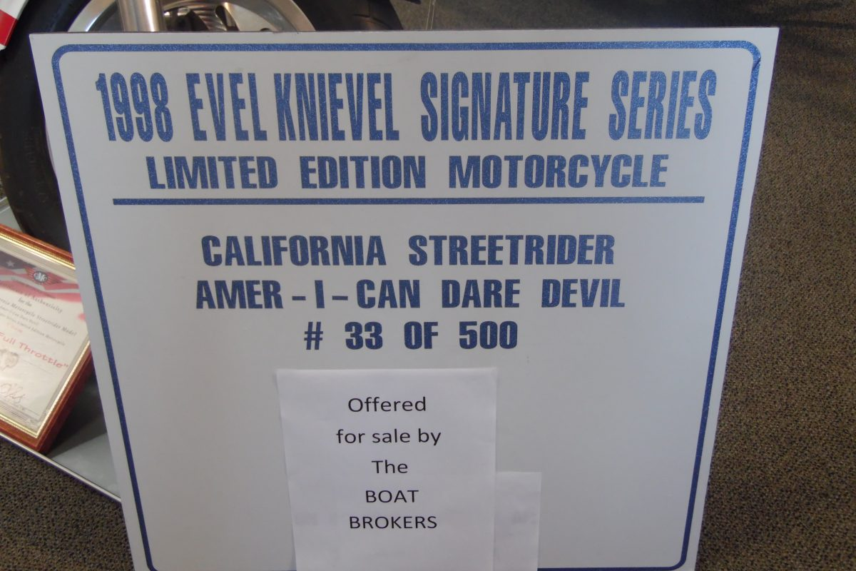 1998 CMC Street Rider Evel Knievel Motorcycle